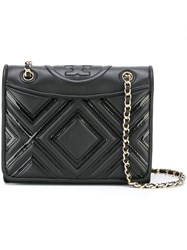 Tory Burch Embossed Geometric Pattern Bag Black