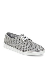 Bacco Bucci Tola Lace Up Leather Sneakers Grey
