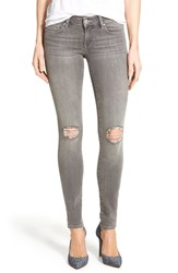 Women's Mavi Jeans 'Serena' Distressed Stretch Skinny Jeans Grey Ripped