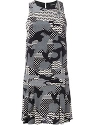 Neil Barrett Camouflage Print Dress Multicolour
