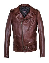 Schott 50S Perfecto Motorcycle Jacket Brown