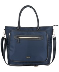 Kenneth Cole Reaction 15 Computer Travel Tote Navy With Shiny Gold Hardware