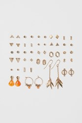 Handm H M 25 Pairs Earrings Gold