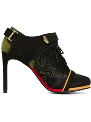 Preen By Thornton Bregazzi Contrasting Panels Stiletto Booties Black