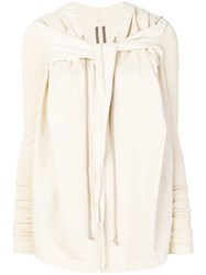 Rick Owens Drkshdw Knotted Front Jacket Nude And Neutrals