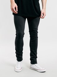 Topman Washed Black Dexter Stretch Skinny Jeans