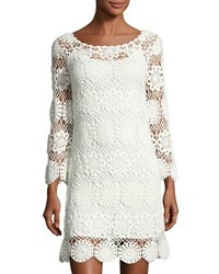 Trina Turk Devora Crochet Lace Dress White