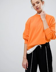 Weekday Huge Cropped Sweatshirt Orange