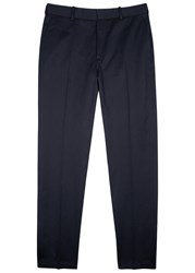 Gucci Dark Blue Cotton Chinos Navy