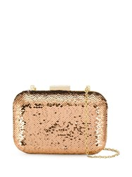 Love Moschino Embellished Clutch Bag Gold