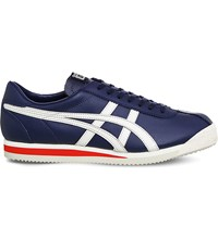 Onitsuka Tiger By Asics Corsair Leather Trainers Indigo Blue Birch
