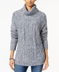 Tommy Hilfiger Cable Knit Turtleneck Sweater Masters Navy