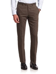 Armani Collezioni Wool Blend Dress Pants Light Brown