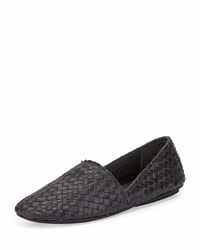 Vince Bogart 3 Woven Slip On Flat Black