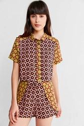 Urban Outfitters Uo Shadow Moon Button Down Top Multi