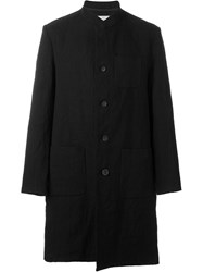 Individual Sentiments Band Collar Midi Coat Black