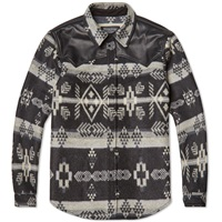 Marcelo Burlon X Pendleton Wool Shirt Jacket Grey And Black