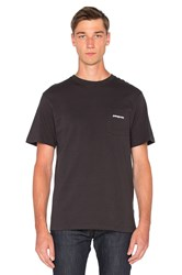 Patagonia P 6 Logo Pocket Tee Black