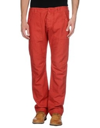 Gold Case By Rocco Fraioli Casual Pants Red