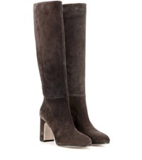 Miu Miu Suede Knee High Boots Brown