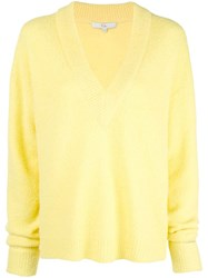 Tibi Oversized V Neck Jumper Yellow