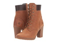Timberland Earthkeepers Glancy 6 Boot Wheat Full Grain Women's Dress Lace Up Boots Brown