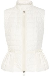 Moncler Valensole Paneled Quilted Cotton And Broderie Anglaise Down Gilet Off White