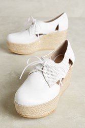 Anthropologie Kmb Cutout Platform Oxfords White 39 Euro Oxfords