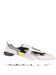 D.A.T.E. Panelled Sneakers Grey
