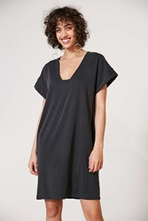 Silence And Noise Cupro Cocoon Dress Washed Black