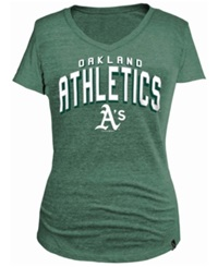 5Th And Ocean Women's Oakland Athletics Changeup T Shirt Green