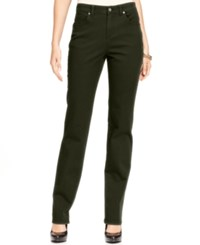 Styleandco. Style Co. Tummy Control Colored Wash Straight Leg Jeans Only At Macy's Evening Olive