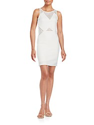 Romeo And Juliet Couture Sleeveless Knit Sheath Dress Off White
