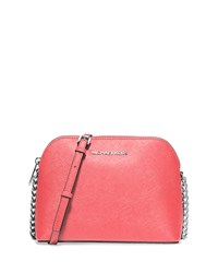 Cindy Large Dome Crossbody Bag Coral Michael Michael Kors