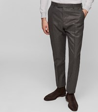 Reiss Chianti T Slim Fit Tailored Trousers In Brown Mens