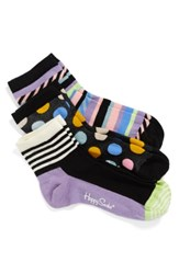 Happy Socks Women's Assorted 3 Pack Ankle