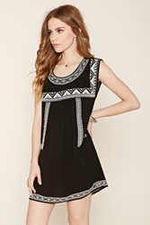 Forever 21 Tribal Inspired Peasant Dress