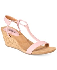 Styleandco. Style Co Mulan Wedge Sandals Created For Macy's Women's Shoes Pink Latte