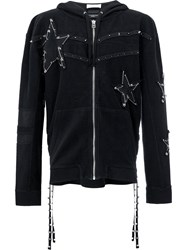 Faith Connexion Pin Embellished Stars Hoodie Black