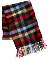 Club Room Men's Plaid Cashmere Scarf Only At Macy's Multi