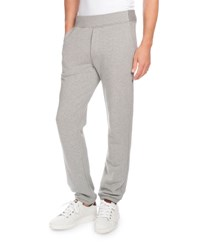 Berluti Heathered Jogger Pants With Leather Pocket Gray