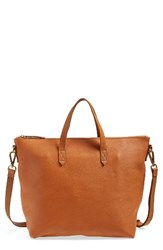 Madewell Leather Transport Satchel Brown English Saddle