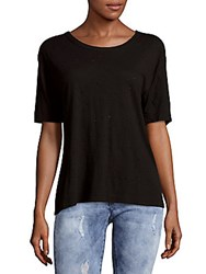 Zadig And Voltaire Kanye Perforated Cotton Top Black