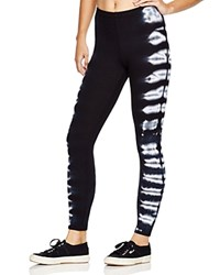 Splendid Tie Dye Thermal Leggings Bloomingdale's Exclusive White Black