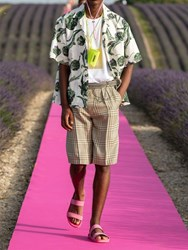 Jacquemus Printed Cotton And Linen Shirt Multicolor