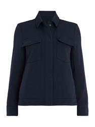 Samsoe And Samsoe Kealey Double Pocket Jacket Blue