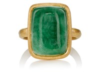 Malcolm Betts Women's Jade Cabochon And Yellow Gold Ring