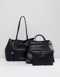 Valentino By Mario Valentino Slouchy 3 In 1 Tote Bag In Black