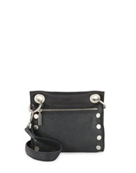 Hammitt Zip Leather Shoulder Bag Black