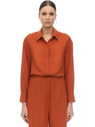 Agnona Wool And Cashmere Shirt Orange